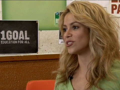 singer shakira discusses the world cup in south africa; 6th june 2010 - shakira stock videos and b-roll footage