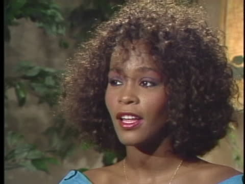 singer whitney houston says that music is music and race is not a part of it. - whitney houston stock-videos und b-roll-filmmaterial