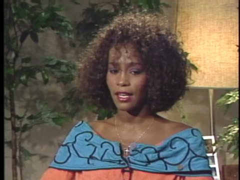 singer whitney houston says that one of her goals is to not let her success change her too much. - whitney houston stock-videos und b-roll-filmmaterial