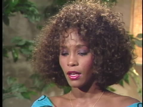 singer whitney houston talks about performing with her mother for the united negro college fund. - whitney houston stock-videos und b-roll-filmmaterial
