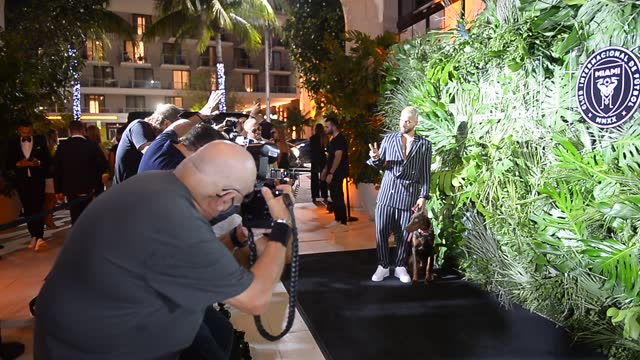 singer/actor maluma attends with his dog the inter miami cf season opening party hosted by david grutman and pharrell williams at the goodtime hotel... - full length stock videos & royalty-free footage