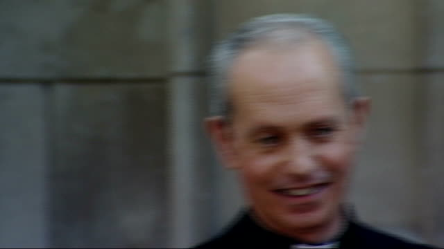 singers 'the priests' signed to sony bmg; england: london: westminster cathedral: ext various shots of the priests who are signing record deal with... - westminster cathedral stock videos & royalty-free footage