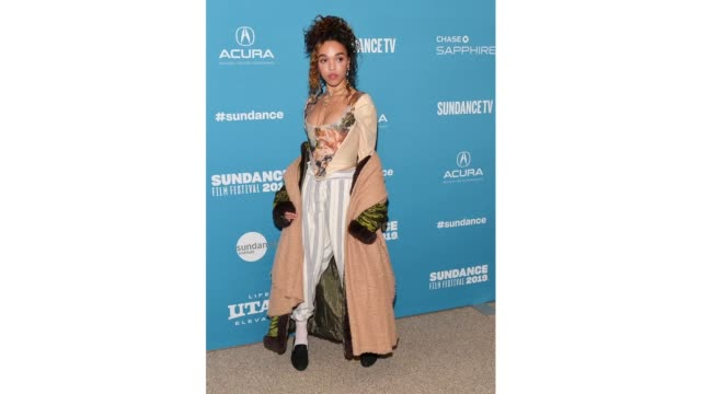 singer-songwriter and actor fka twigs attends the 'honey boy' premiere during the 2019 sundance film festival at eccles center theatre on january 25,... - シンガーソングライター点の映像素材/bロール