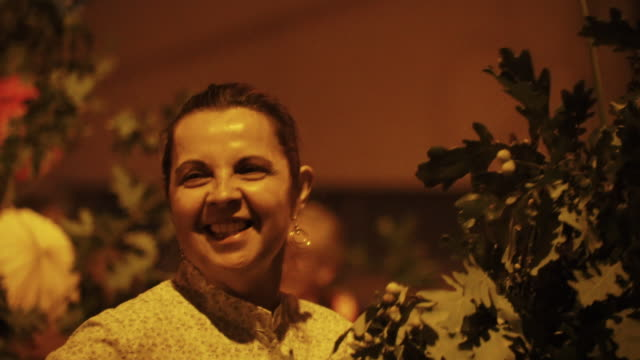 Singing and dancing at nighttime traditional festival - Portugal