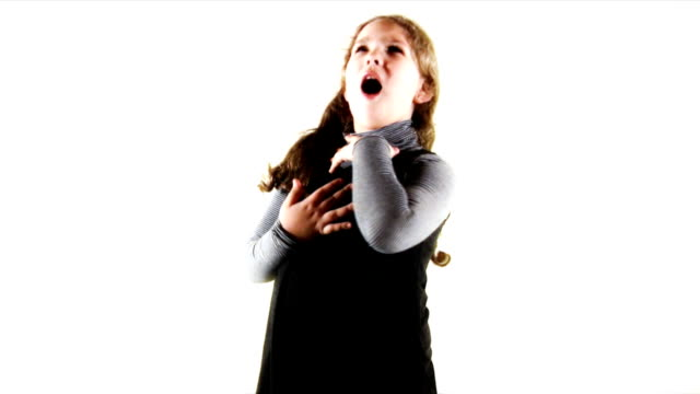 singing girl (hd) - singing stock videos & royalty-free footage