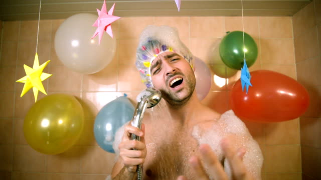 singing in the shower - singing stock videos & royalty-free footage