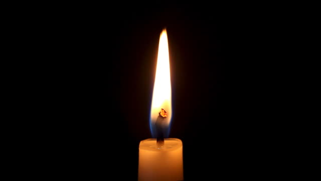 single candle flame (sharp detail macro hd) - votive candle stock videos and b-roll footage