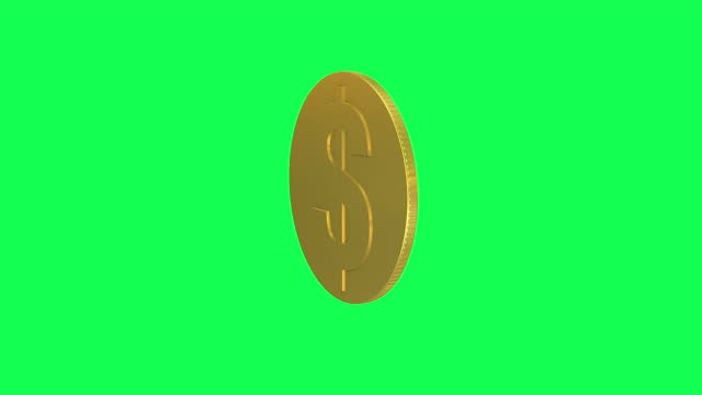 single dollar sign coin rotating loopable animation. gold dollar coin loopable - change stock videos & royalty-free footage