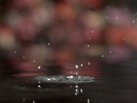Single drop on water
