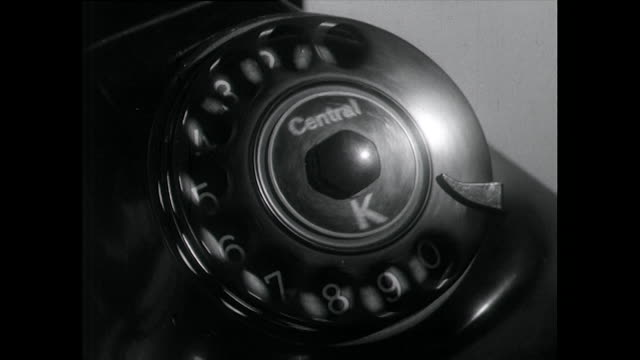 single finger dials a rotary telephone with audio; 1955 - 1955 stock videos & royalty-free footage