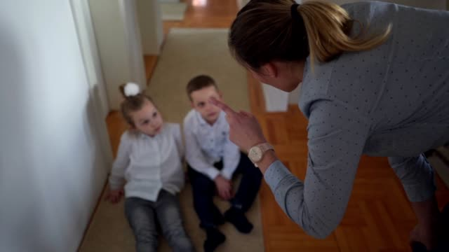 single mother grounding her kids - blame stock videos & royalty-free footage