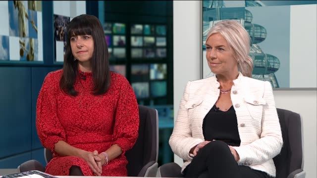 Single mothers in London move in together to share rescources ENGLAND London GIR INT Janet Hoggarth and Nicola Markham LIVE STUDIO interview SOT...