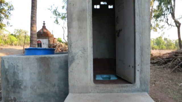 Single outerhouse lavatory in a village In many rural areas a toilet is still a luxury The toilets were built as part of the 'Jana Jagaran developing...