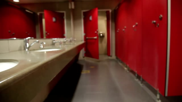 wc -sink - public restroom stock videos and b-roll footage