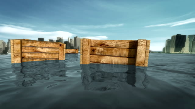 sinking packages at new york sea - sinking stock videos & royalty-free footage