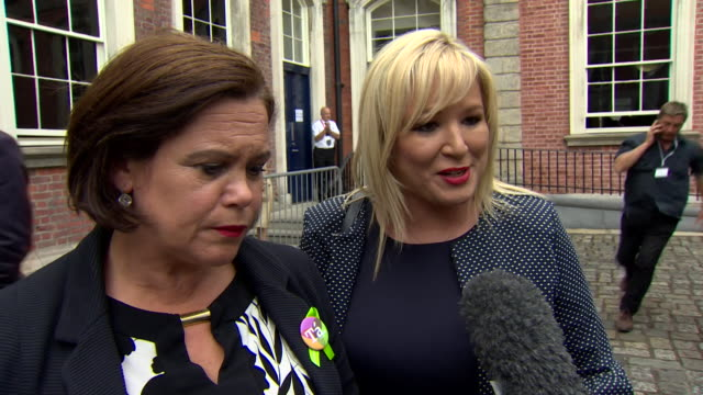 sinn fein in northern ireland leader michelle o'neill saying her party wants to see the same policy regarding abortion in the north as in the south... - women politics stock videos & royalty-free footage