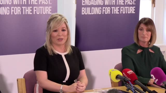 vídeos y material grabado en eventos de stock de sinn fein launches its response to a public consultation on legacy proposals. michelle o'neill talks about the dup at the tory party conference and... - provincia de ulster