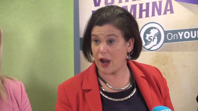 sinn fein leader mary lou mcdonald on the collapse of power-sharing talks. she outlines details from draft agreement to restore powersharing which... - ulster province stock videos & royalty-free footage