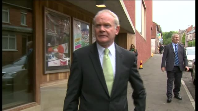 sinn fein politician and former ira terrorist martin mcguinness dies aged 66 lib / 2762012 ext mcguinness comments on meeting the queen sot - martin mcguinness stock videos and b-roll footage