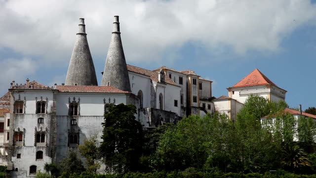 sintra, portugal - palácio nacional - palácio stock videos & royalty-free footage