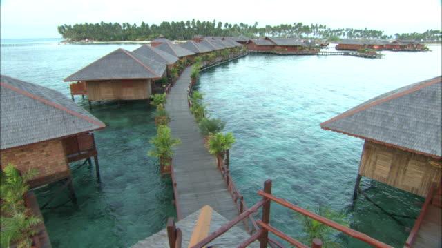 Sipadan Water Village, early am light on resort, Borneo, Malaysia, Southeast Asia