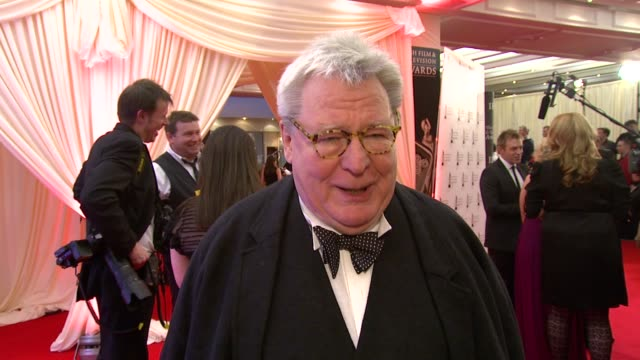 sir alan parker on the iftas and what he likes about award shows at the irish film television awards at dublin - television awards stock videos & royalty-free footage