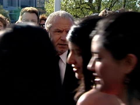 sir alan sugar at the tv bafta awards at london - alan sugar stock videos & royalty-free footage