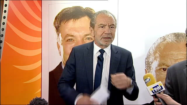 sir alan sugar attends apprenticeship seminar in gateshead more of alan sugar press conference sot - gateshead stock videos and b-roll footage
