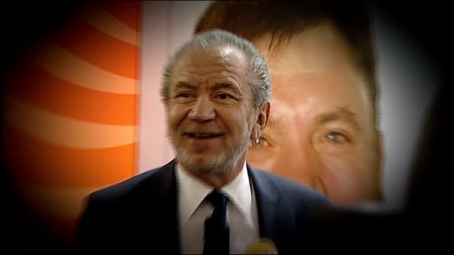 sir alan sugar talking with others at meeting - alan sugar stock videos and b-roll footage