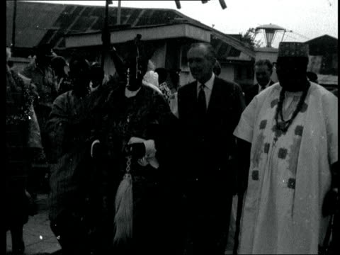 sir alec douglashome in nigeria nigeria ms sir alec with the oba of lagosadenigi adele ms both towards ms ditto cms sir alec gets the tribal chief... - shiso stock videos & royalty-free footage