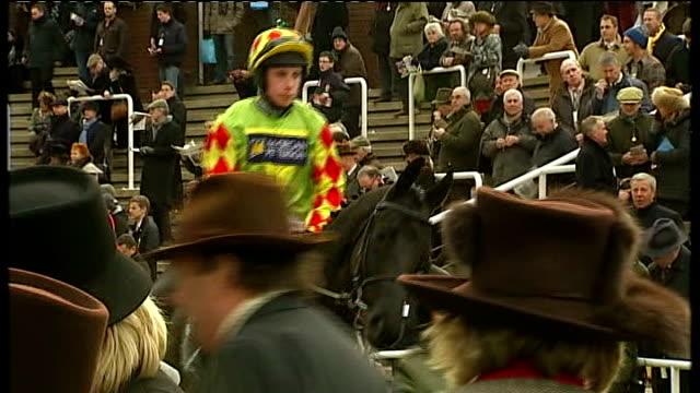 sir alex ferguson attends horse racing at cheltenham england gloucestershire cheltenham ext sir alex ferguson with jockey and trainer paul nicholls... - cheltenham stock videos & royalty-free footage