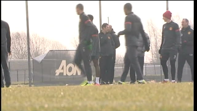 sir alex ferguson autobiography; lib england: carrington training ground: ferguson chatting to others ferguson and man utd players during training... - autobiography stock videos & royalty-free footage