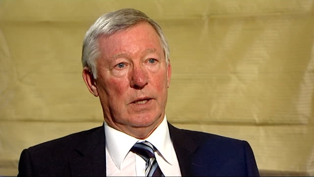 sir alex ferguson autobiography; london: int sir alex ferguson sot - he could have been manchester united legend - autobiography stock videos & royalty-free footage