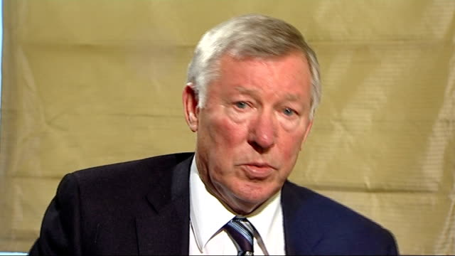 sir alex ferguson interview sot - yes have to deal with issues and most important thing is don't lose your control, managers cannot afford players to... - honesty stock videos & royalty-free footage