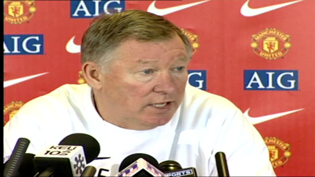 Sir Alex Ferguson press conference SOT Enjoy his company he's got a good personality