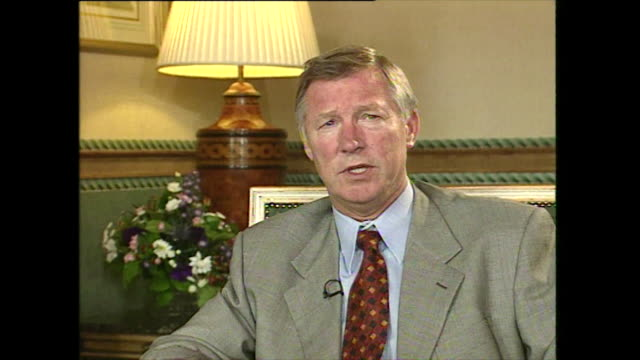 sir alex ferguson saying 'humility i think i have got i think it's all a tribute to how i was brought up and where i was brought up' - humility stock videos and b-roll footage