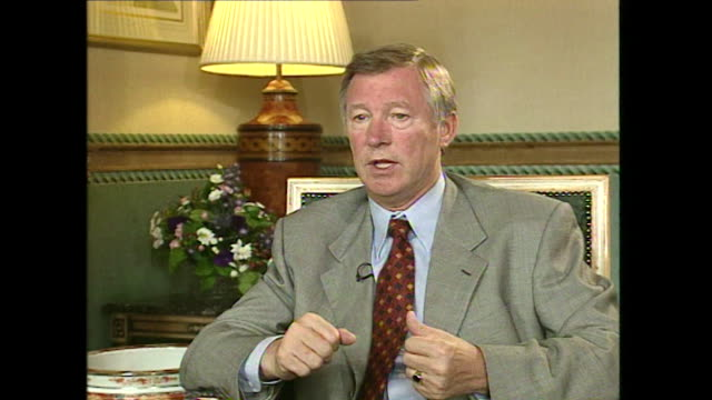 Sir Alex Ferguson saying 'I wasn't doing well in '89 and I did need someone to stand by me and for that I am grateful to the club [Manchester United]...