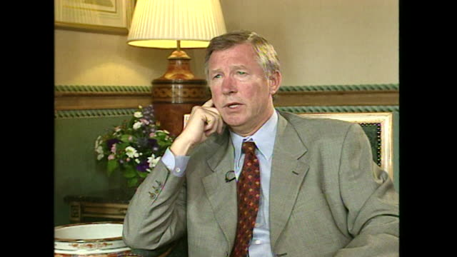 Sir Alex Ferguson saying 'I'm a football man and I would miss football too much' when asked if he could consider a different profession to football