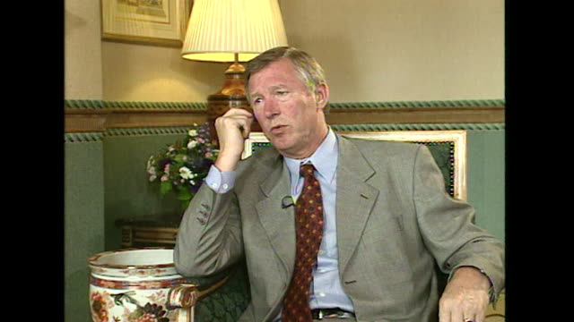 Sir Alex Ferguson saying 'there are times I lose my temper' with the media