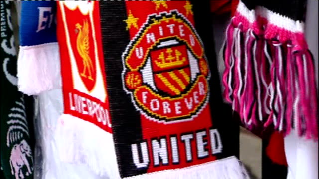 sir alex ferguson writes letter to manchester united fans ahead of liverpool match at anfield england merseyside liverpool anfield ext floral... - neckwear stock videos and b-roll footage