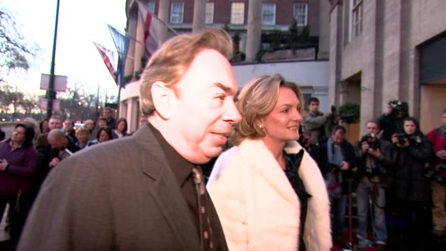 sir andrew lloydwebber at the the laurence olivier awards at the grosvenor house in london on march 9 2008 - andrew lloyd webber stock videos and b-roll footage