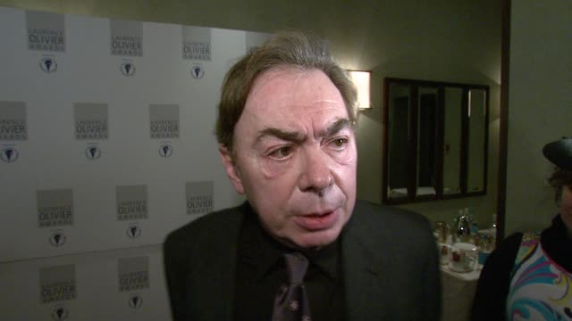 sir andrew lloydwebber on how some of london's old listed theatres need to be revamped to accommodate the changes in london's theatre business at the... - andrew lloyd webber stock videos and b-roll footage