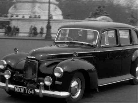 Sir Anthony Eden arrives at Buckingham Palace to accept the position of Prime Minister following Winston Churchill's retirement