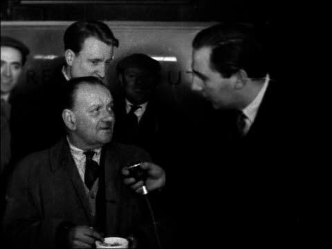 public reaction ENGLAND London Interviews with men and women in the street some all for Sir Anthony Eden others against / T/X 9157 / 1045pm