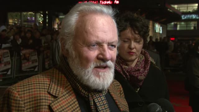sir anthony hopkins at the 'the bank job' world premiere on february 18 2008 - anthony hopkins stock videos & royalty-free footage