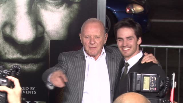 Sir Anthony Hopkins Colin O'Donoghue at the 'The Rite' Premiere at Hollywood CA