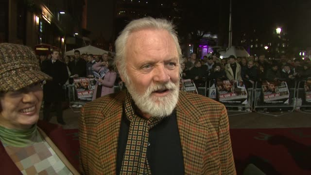 sir anthony hopkins on director roger donaldson at the 'the bank job' world premiere on february 18 2008 - anthony hopkins stock videos & royalty-free footage
