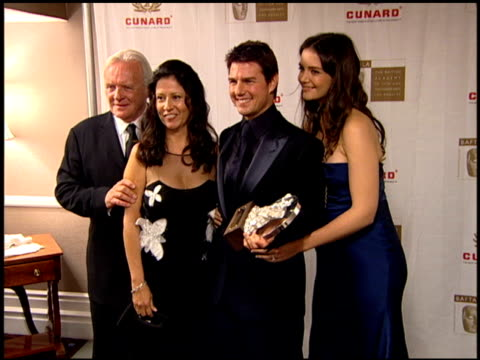 sir anthony hopkins wife stella arroyave tom cruise and katie holmes at the 2005 bafta/la cunard britannia awards backstage at the beverly hilton in... - anthony hopkins stock videos & royalty-free footage