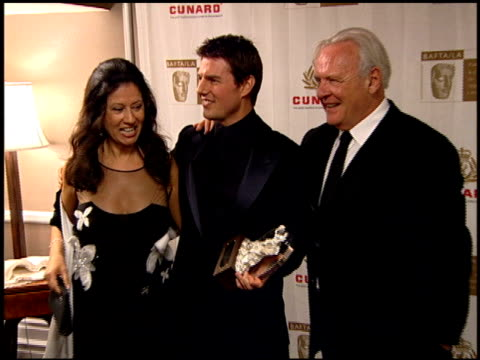 Sir Anthony Hopkins wife Stella Arroyave Tom Cruise and Katie Holmes at the 2005 BAFTA/LA Cunard Britannia Awards Backstage at the Beverly Hilton in...