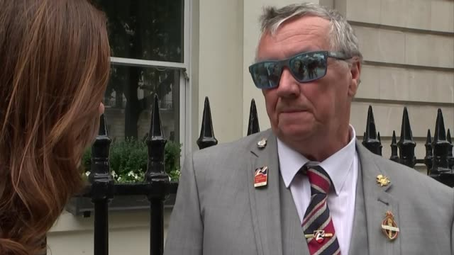 Sir Arthur Pearson's charity work helping blind veterans celebrated with blue plaque ENGLAND London Marylebone 21 Portland Place EXT Peter Price...